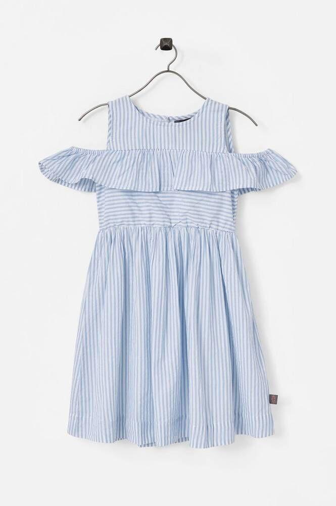 Creamie Mekko Blue Stripe Dress