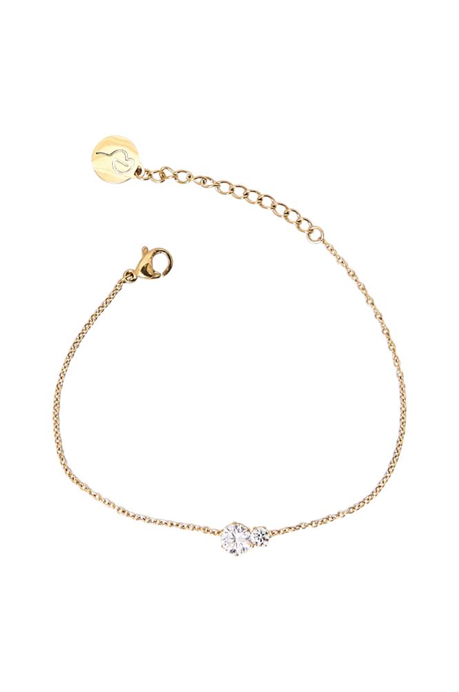 Edblad Crown Bracelet Double Gold -rannekoru
