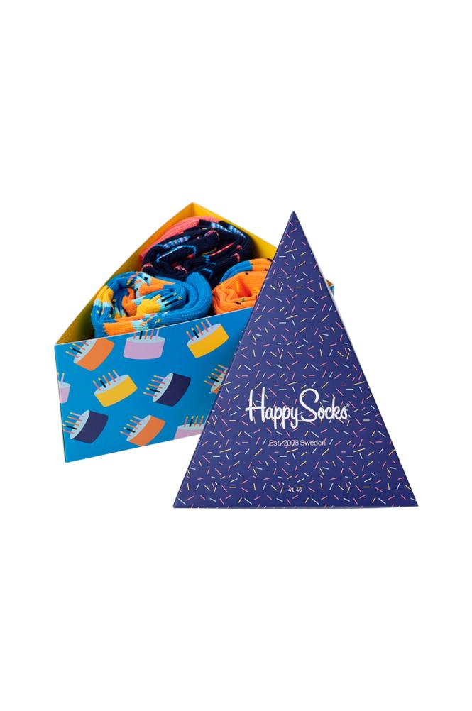Happy Socks Lahjapakkaus Happy Birthday Gift Box, 3 paria