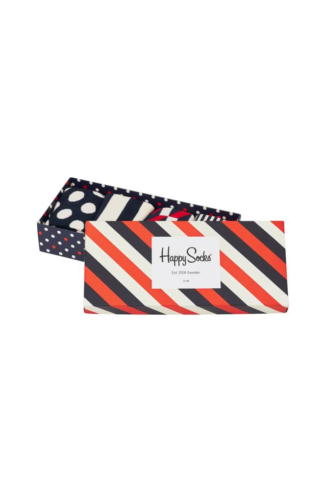 Happy Socks Lahjapakkaus Holiday Big Dot Gift Box, 4 paria sukkia