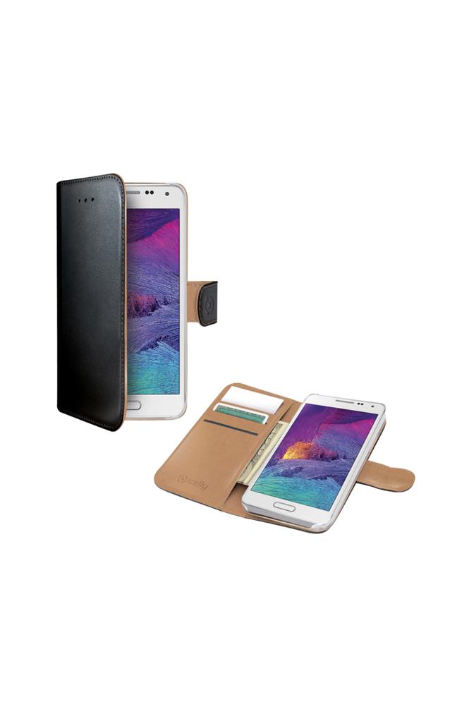 Celly Wallet Case Galaxy S6 Musta/beige