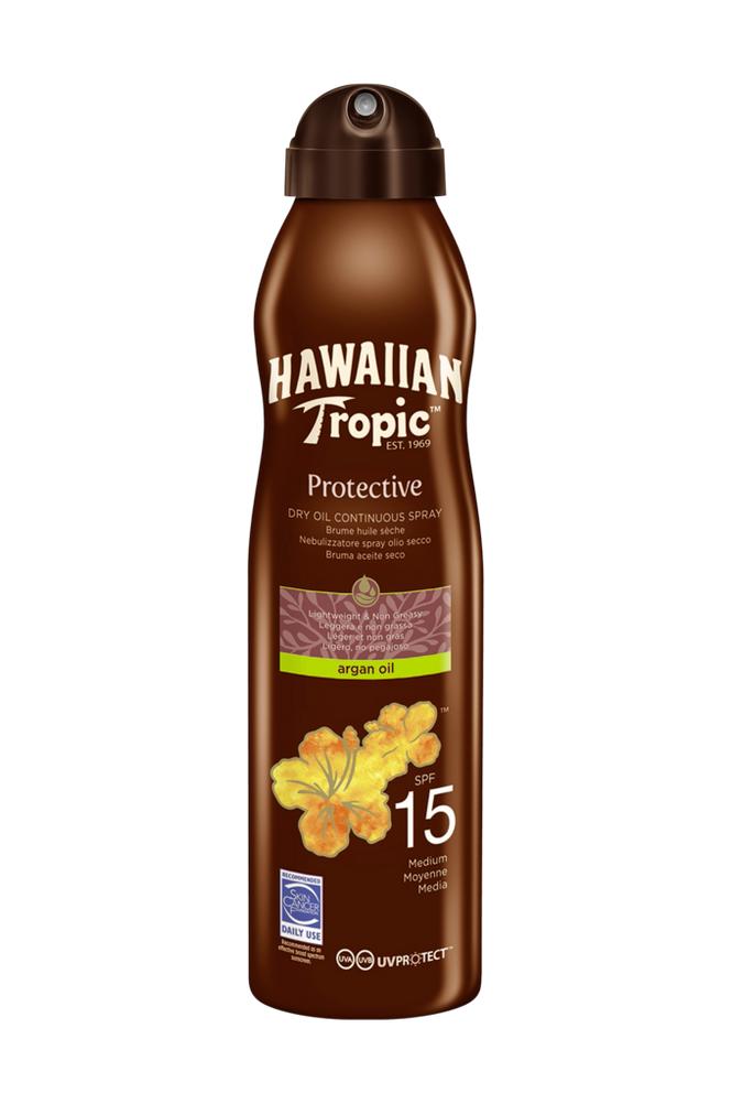 Hawaiian Tropic Dry Oil Argan -aurinkosuoja SPF 15 180ml