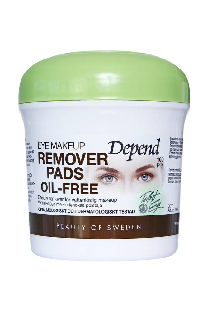Depend Eye Makeup Remover Pads Oil-Free