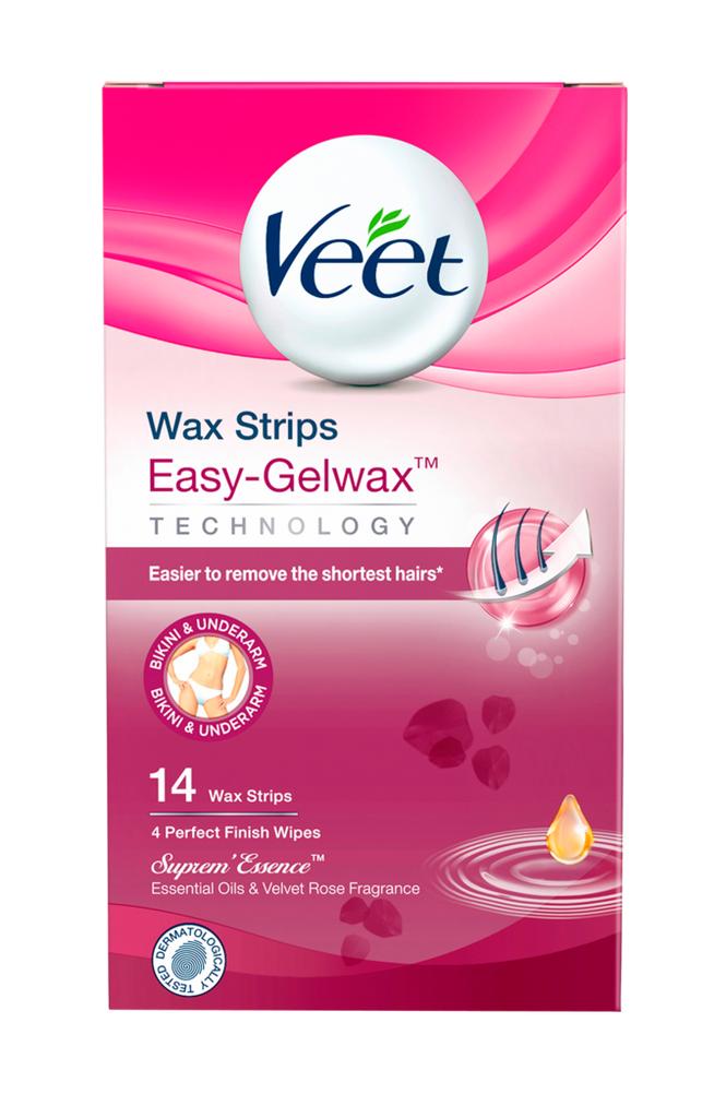Veet Supreme Essence Wax Strips Bikini 14 kpl