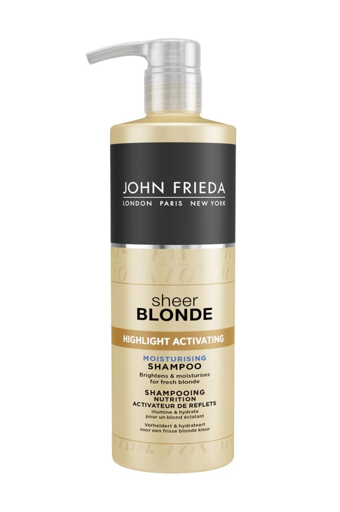 John Frieda Sheer Blonde Highlight Activating Moisturising Shampoo 500 ml