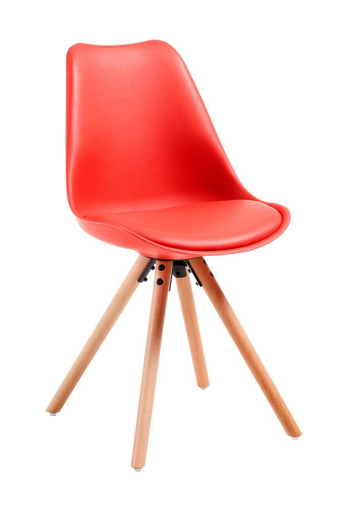 Ellos LARS tuoli puuta/muovia, punainen, 4/pakk.