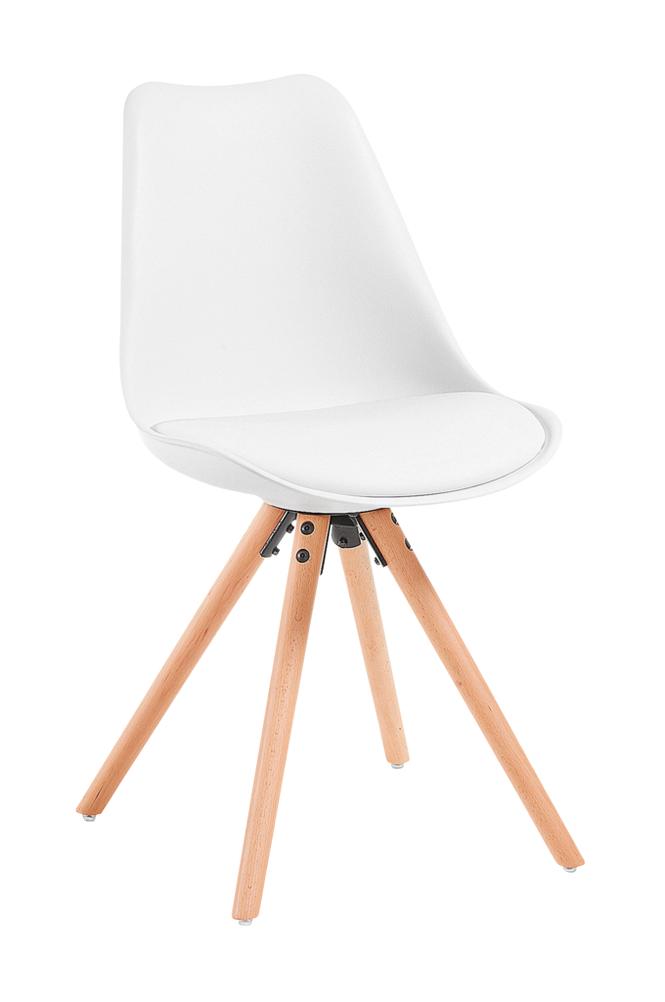 Ellos LARS tuoli puuta/valkoista muovia, 4/pakk.