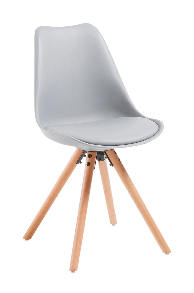 Ellos LARS tuoli puuta/vaaleanharmaata muovia, 4/pakk.