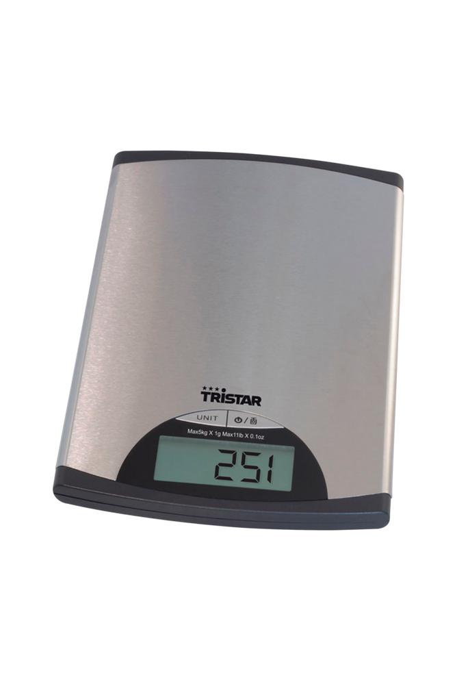 TriStar Keittiövaaka ruostumatonta terästä, 5 kg KW-2435
