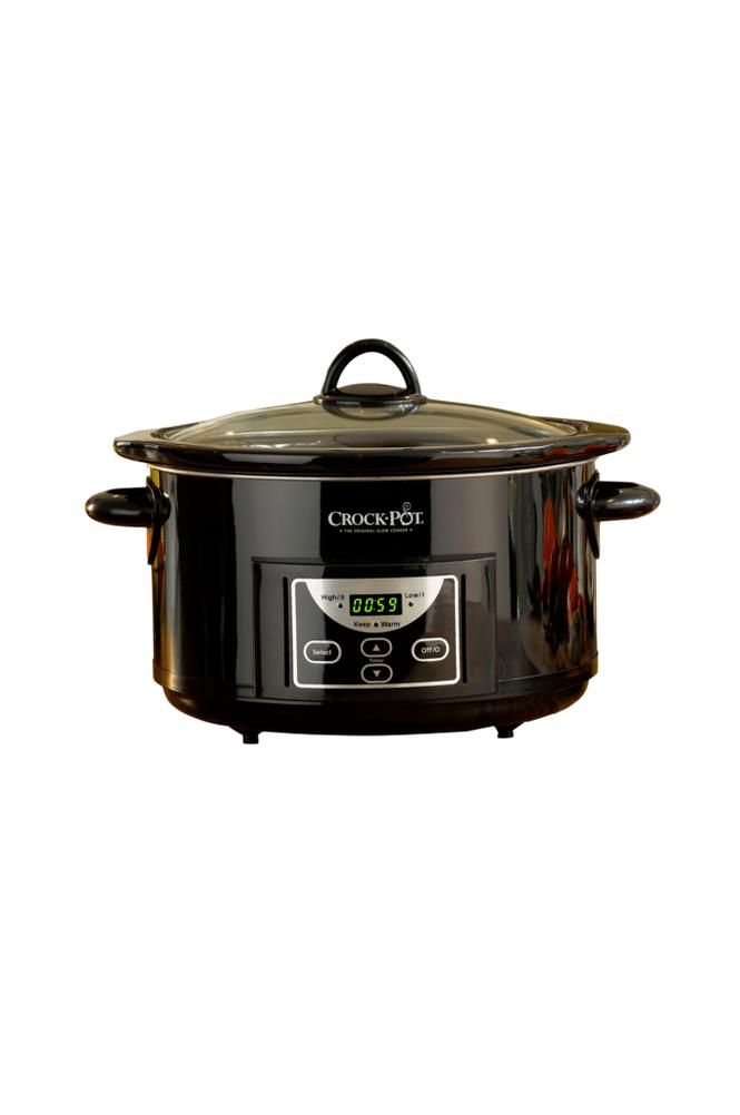 Crock-Pot Slow Cooker 4,7 l, ajastin, musta