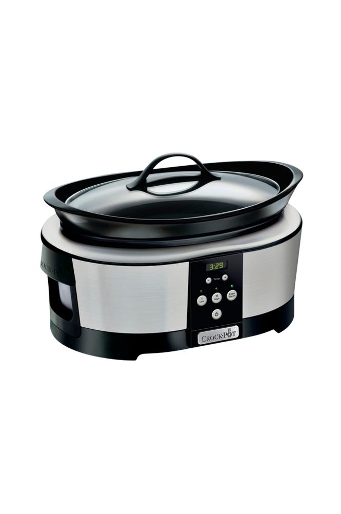 Crock-Pot Slow Cooker 5,7 l, ajastin, ruostumaton teräs