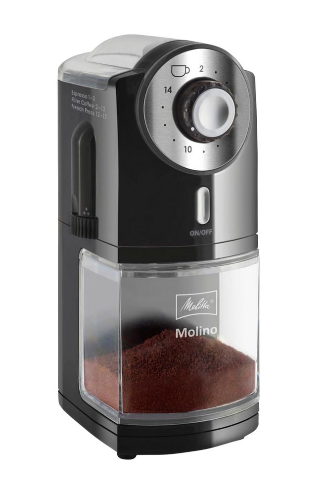 Melitta Molino-kahvimylly, musta