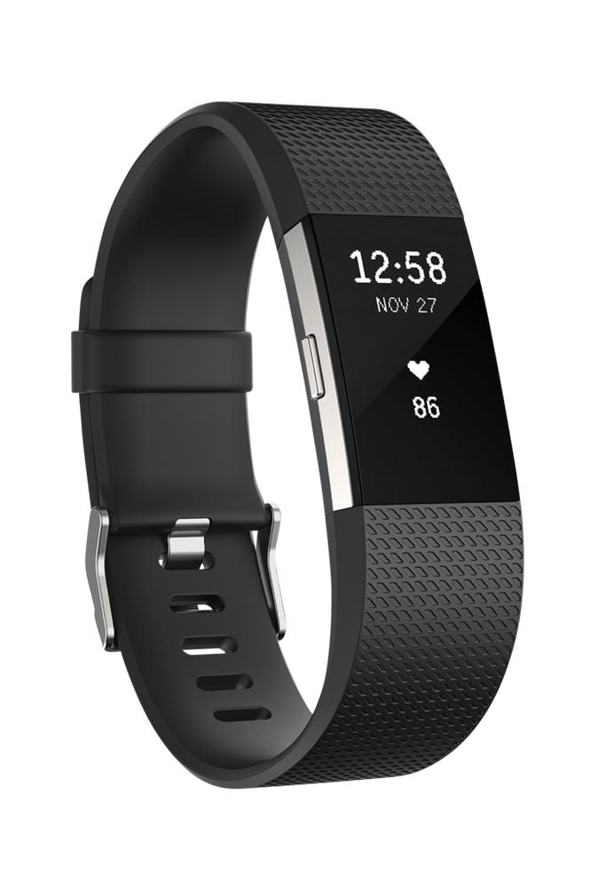 Fitbit Charge 2 -aktiivisuusranneke Large Black