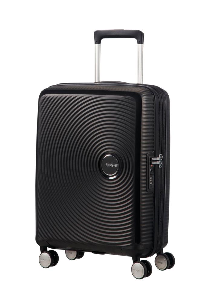 American Tourister Soundbox Spinner 55 Musta