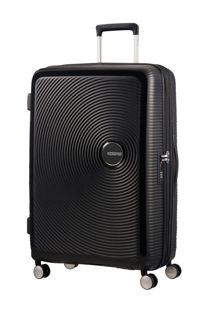 American Tourister Soundbox Spinner 77 Musta