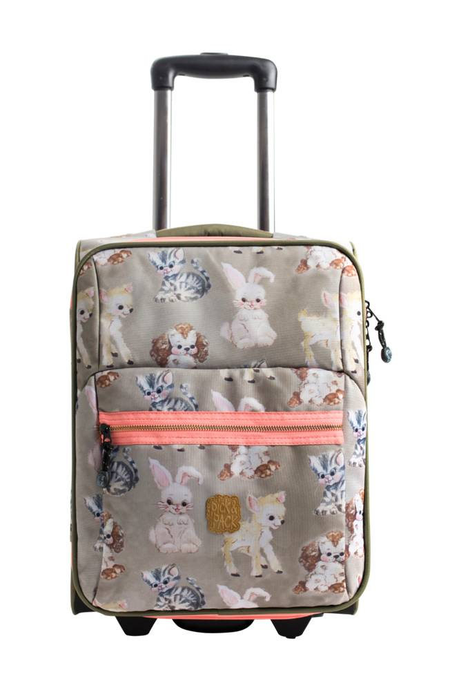 Pick & Pack Trolley Cute animals taupe