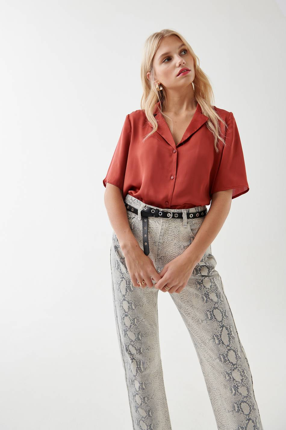 Gina Tricot Laurine satin blouse