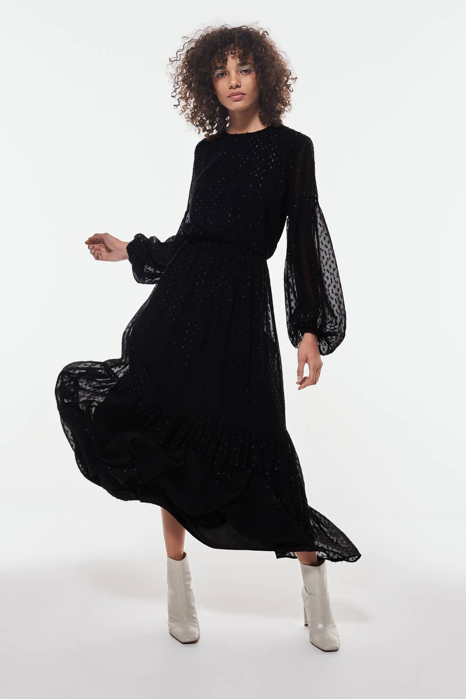 Image of Gina Tricot Asli chiffon maxi dress  - Black