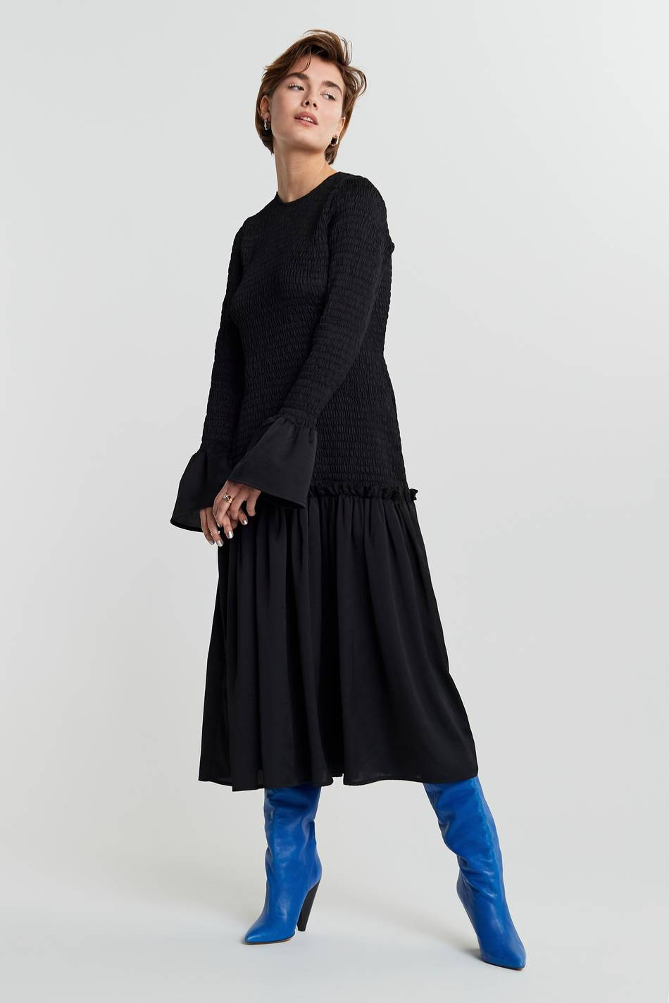 Gina Tricot Karin shirred dress