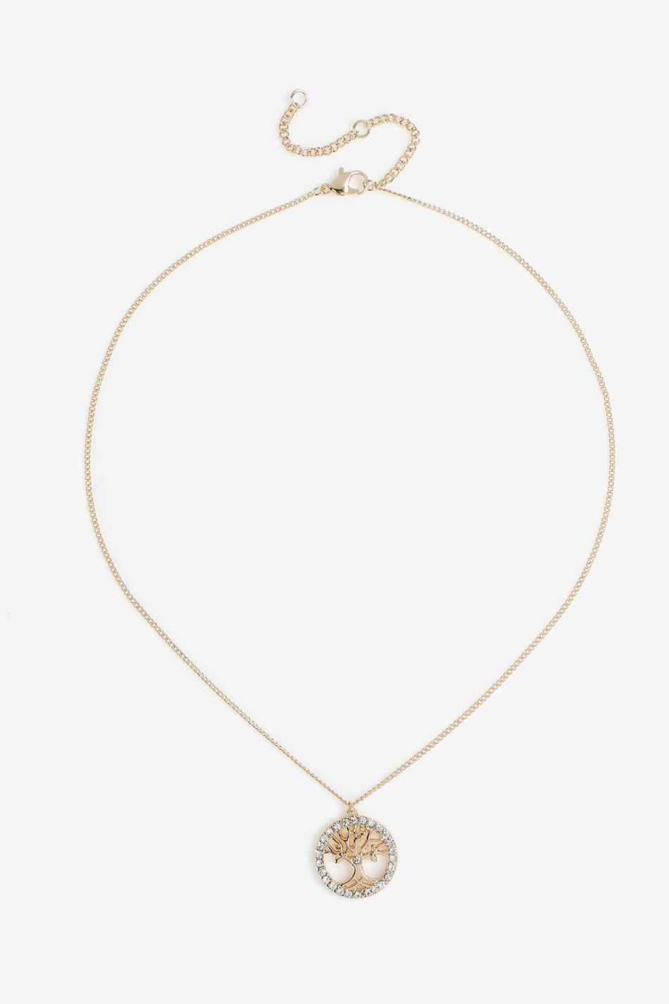 Gina Tricot GOLD CRYSTAL TREE OF LIFE NW