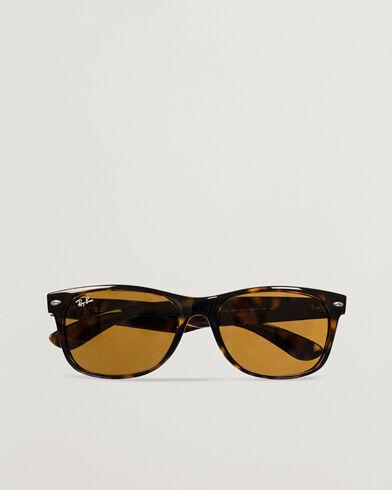 Image of Ray Ban New Wayfarer Sunglasses Light Havana/Crystal Brown