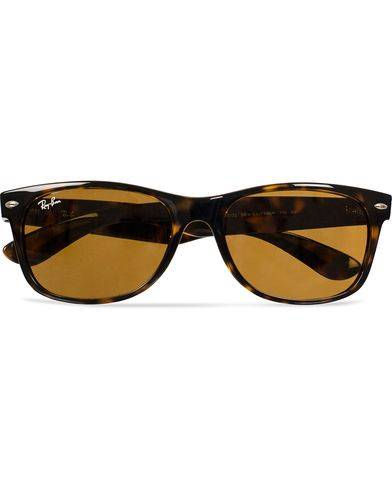 Ray Ban New Wayfarer Sunglasses Light Havana/Crystal Brown