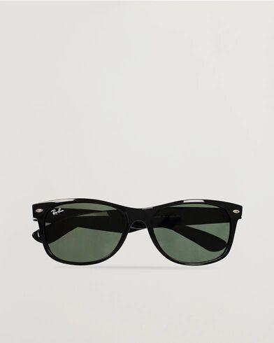 Image of Ray Ban New Wayfarer Sunglasses Black/Crystal Green