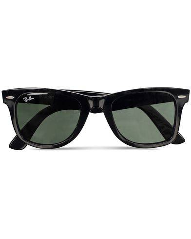 Image of Ray Ban Original Wayfarer Sunglasses Black/Crystal Green