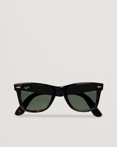 Image of Ray Ban Original Wayfarer Sunglasses Tortoise/Crystal Green