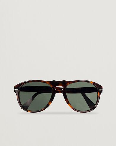 Persol PO0649 Sunglasses Havana/Crystal Green