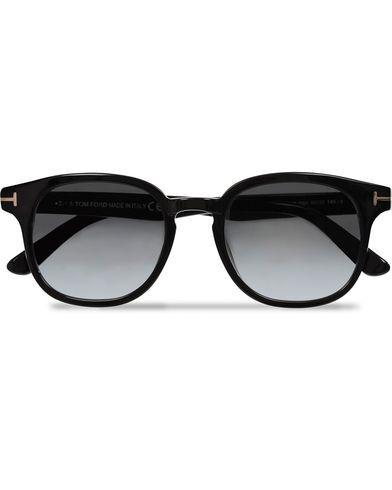 Tom Ford Frank FT0399 Sunglasses Black/Gradient Grey