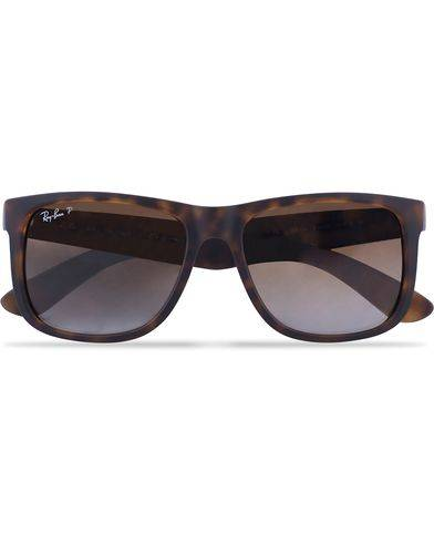 Image of Ray Ban 0RB4165 Justin Polarized Wayfarer Sunglasses Havana/Brown