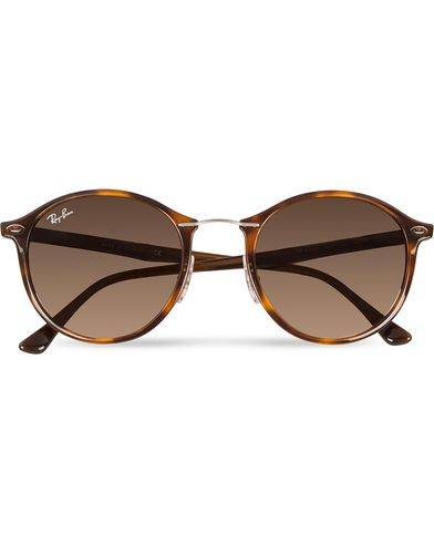 Ray Ban 0RB4242 Round Sunglasses Light Havana/Brown