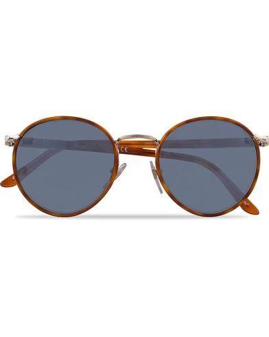 Image of Persol 0PO2422SJ Round Sunglasses Light Gold/Light Blue