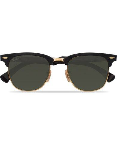 Ray Ban 0RB3507 Clubmaster Sunglasses Black Arista/Polar Green