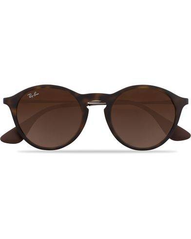 Ray Ban 0RB4243 Round Sunglasses Rubber Havana