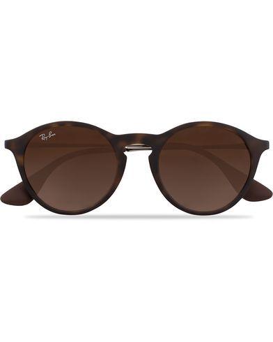 Ray Ban 0RB4243 Round Sunglasses Rubber Havana