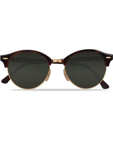 Ray Ban 0RB4246 Clubmaster Sunglasses Red Havana/Green