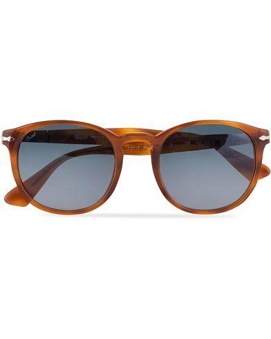 Image of Persol 0PO3157S Round Sunglasses Terra Di Siena