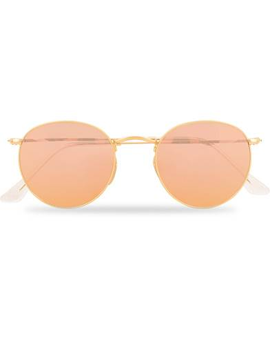 Ray Ban 0RB3447 Sunglasses Brown Mirror Pink