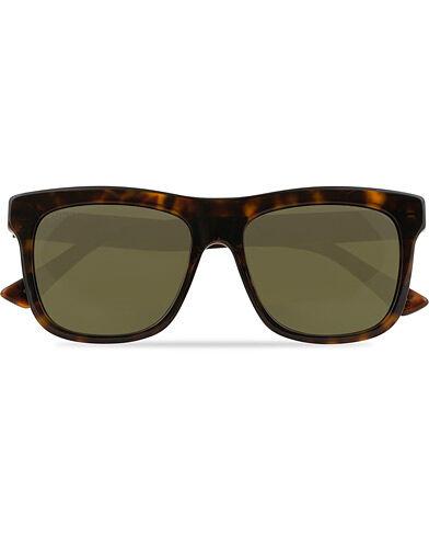 Gucci GG0158S Sunglasses Havana/Green
