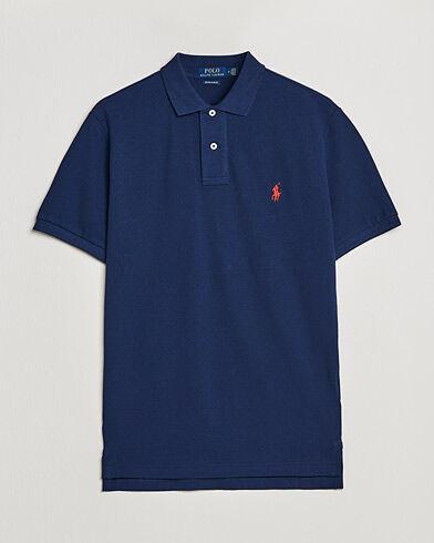 Image of Ralph Lauren Custom Slim Fit Polo Newport Navy