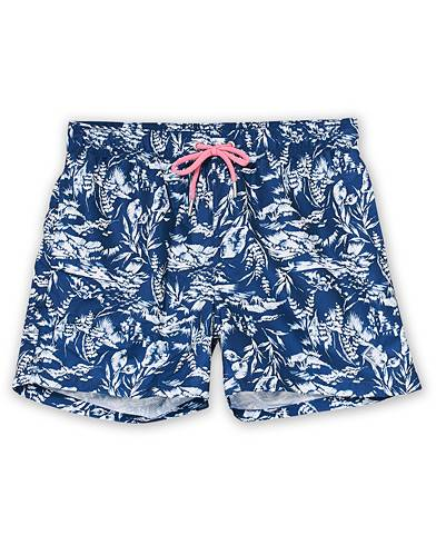 Gant Riviera View Printed Swimshorts Insignia Blue