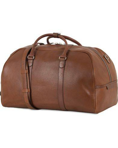 Tiger of Sweden Pinchon Leather Weekend Bag Brown