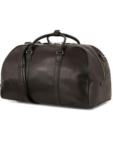 Tiger of Sweden Pinchon Leather Weekend Bag Black
