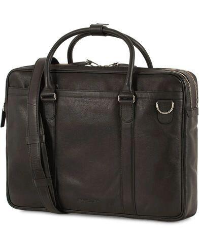 Tiger of Sweden Printel Leather Briefcase Black