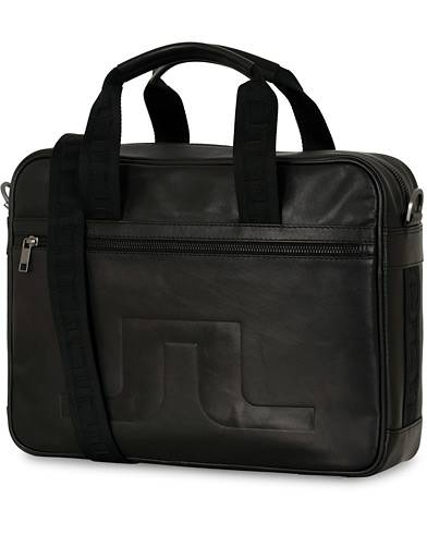 J.Lindeberg Leather Computerbag Black