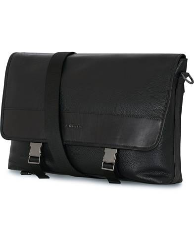 J.Lindeberg Leather Messengerbag Black