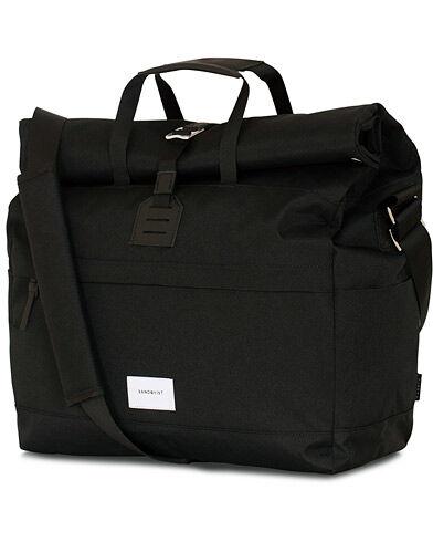 Sandqvist Tor Cordura Eco Made Roll Top Messenger Bag Black