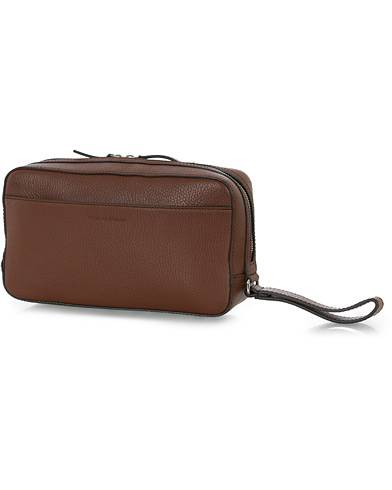 Tiger of Sweden Wes Grained Leather Toiled Bag Brown